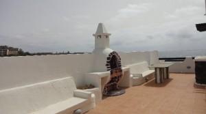 p alta terraza vista y BBQ